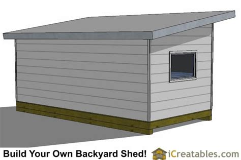 10 X 20 Modern Shed Plans by 10x20 Modern Studio Shed Plans