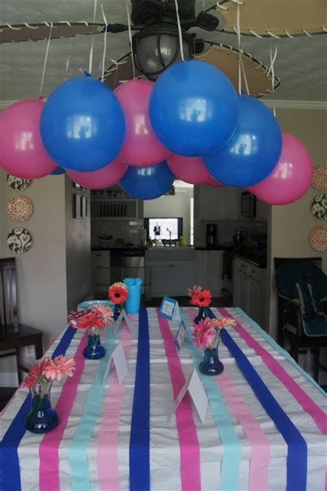 gender reveal party decorate  pink  blue