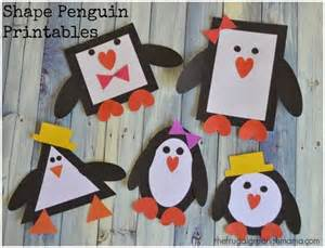 Shapes Penguin Craft Printable