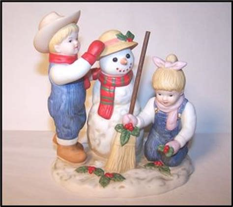 home interior denim days figurines homco home interiors denim days quot holiday time snowman quot figurine 56072 ebay