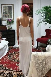 white silk knit slip nightgown bridal cruise lounge With white silk slip wedding dress