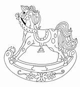 Horse Rocking Colorbook sketch template