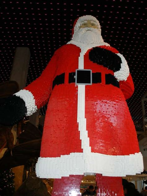 father christmas lego sculptures santa claus immortalized