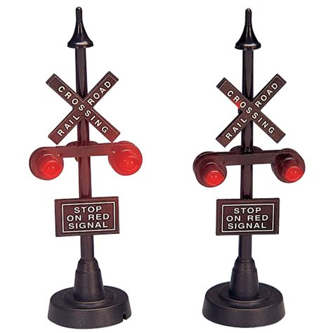 lemax railway stop light accessory set of 2 34954
