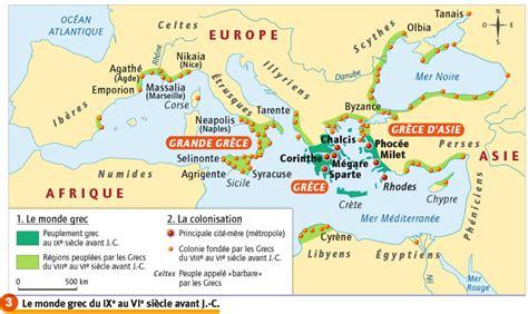 Carte Vierge Du Monde Des Cités Grecques by 6h3 Le Monde Des Cit 233 S Grecques Histoire Et G 233 Ographie