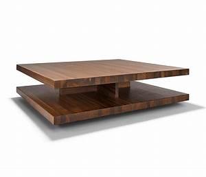 Luxury Modern Wood Coffee Table - TEAM 7 C3 - Wharfside
