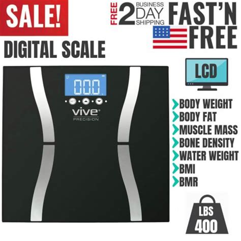 digital bathroom weight scale lb smart health fitness