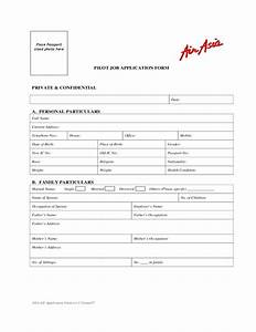 Job Application Form Template Free Download Airasia Pilot Job Application Form Free Download