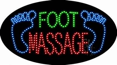 Massage Foot Sign Led Animated Signs Neon