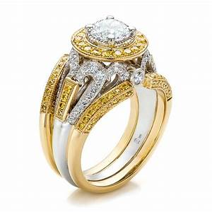 yellow gold round cut diamond wedding rings ipunya With diamond yellow gold wedding rings
