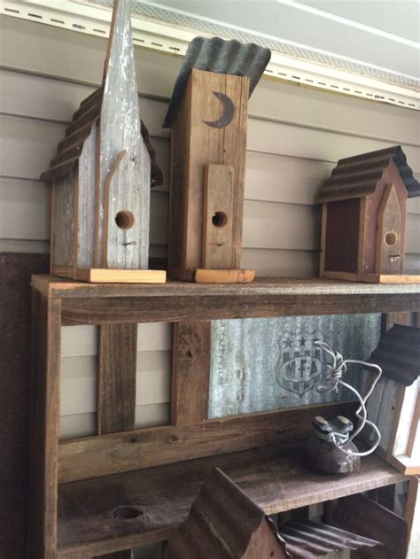 sale birdhouses    barnwood tin