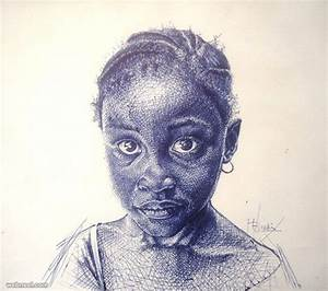 20 Realistic Ballpoint Pen Drawings from African Artist ...