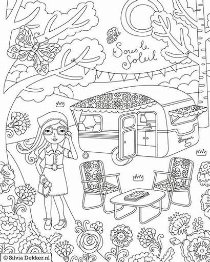Coloring Camping Pages Printable Sheets Adult Flow