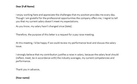 salary increase letter format  word salary increase