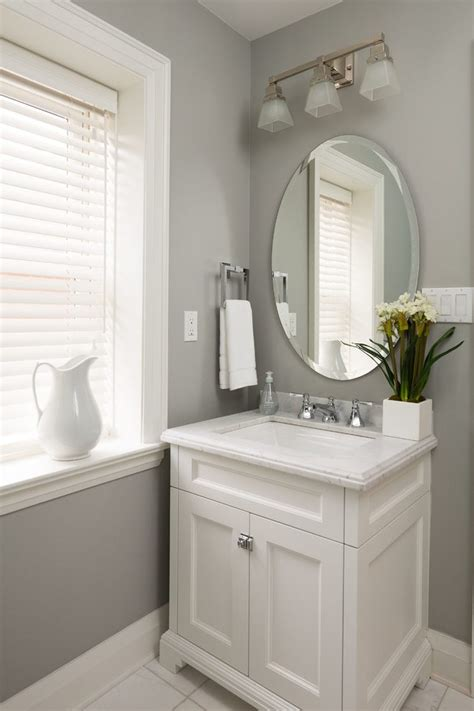 Terrific Powder Room Vanities Ideas Transitional With Gray