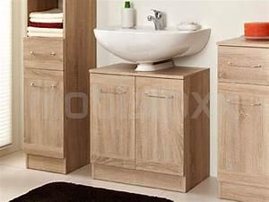meuble sous lavabo luther 2 portes chene naturel chez With porte d entrée pvc avec colonne vasque salle de bain