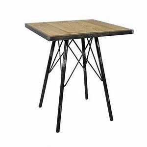 Table Basse Hauteur 60 Cm : table 60x60 cm hauteur 75 cm en bois orme massif structure ~ Dailycaller-alerts.com Idées de Décoration