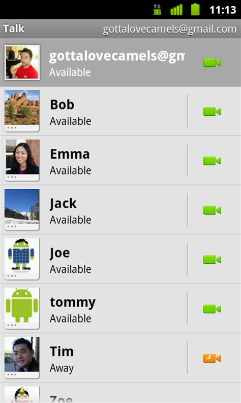 how to chat on android announces talk chat for android 2 3 4