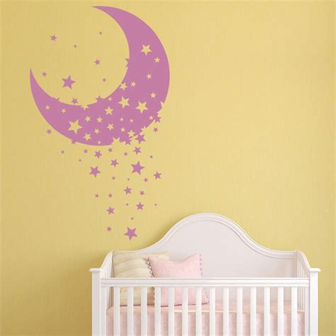The perfect solution for nursery decorating, create the perfect space for baby with roommates nursery wall decals. Moon & Star Vinyl Wall Stickers Decorative Nursery Wall Decal Childrens Home Decor New Arrivals ...