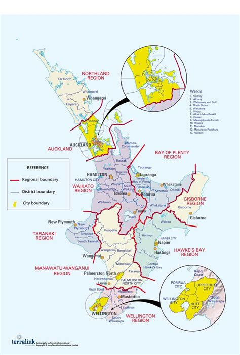 Map of NZ's regional, district and city councils ...