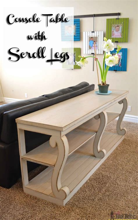console table  scroll legs woodworking table plans