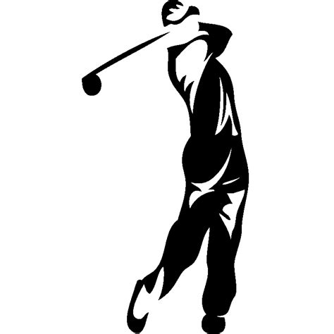 poser carrelage mural cuisine stickers sport et football sticker silhouette golfeur