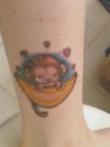 Cute Baby Monkey Tattoos