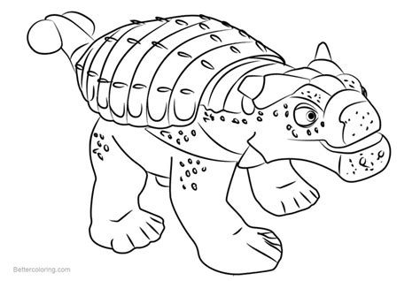 Dinosaur Train Coloring Pages Hank Ankylosaurus