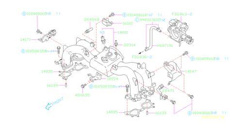Subaru Intake Manifold Diagram by Subaru Forester Gasket Intake Manifold System Engine