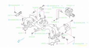Subaru Forester Engine Intake Manifold Gasket  System  Crossover  Cooling  Air