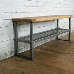 Rustic, Industrial, Shoe, Bench, 2, X, Oak, Wax, Finish, In, Stock