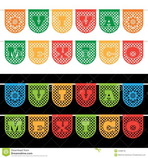 catrina set mexican bunting banners stock vector image 44388745