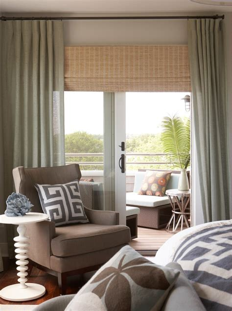 sliding glass door blinds Family Room Contemporary with