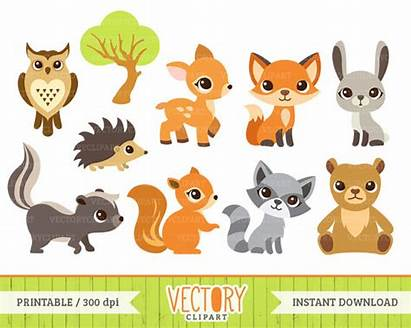 Animal Clipart Woodland Forest Animals Clip Nature