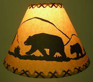 wildlife l shades 18 inch rustic l shade click on photos to view
