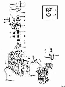 Mercury Marine 40 Hp  2 Cylinder  Cylinder Block