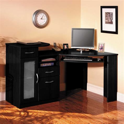 Black Corner Computer Desks For Home by My Office Ideas