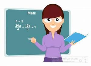 Mathematics Clipart- math-teacher-with-math-formula-on ...