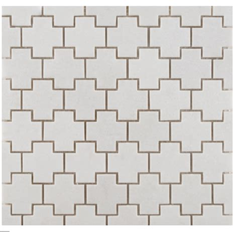 ann sacks crois mosaic tile in white tile flooring