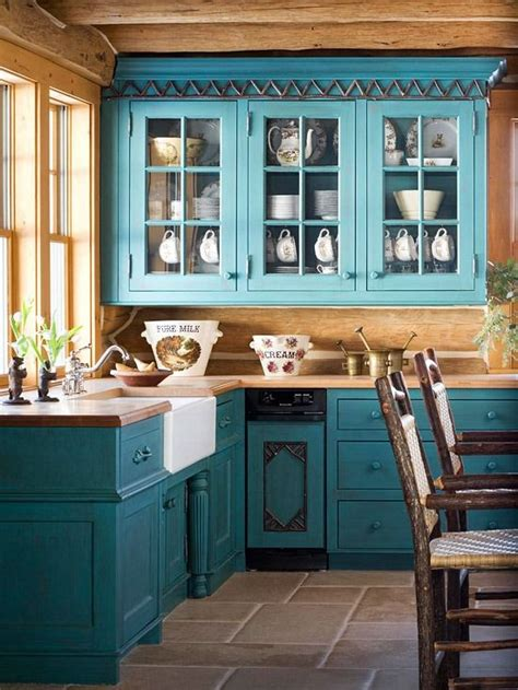 teal cabinets ideas  pinterest colored