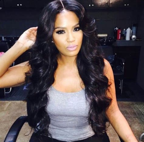 part hair style middle part sew in bombshell curls hair work 2 2878
