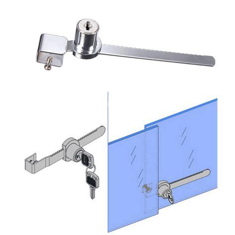 glass display cabinet with lock 2 key keyed alike display case showcase lock sliding