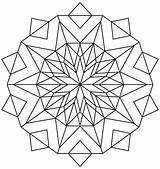 Kaleidoscope Coloring Pages Simple Awesome Printable Template Mandala Adults Transparent Templates Christmas Categories sketch template