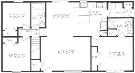 split bedroom floor plans split ranch house plans lovely ranch floor plans with