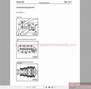 Audi A4 B5 2002 Wiring Diagram