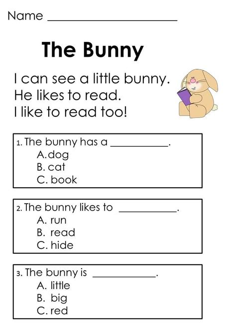 Easter Reading Passages & Addition Word Problems  Word Problems, Reading Comprehension And Bunnies
