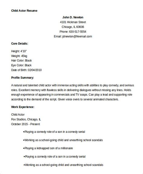 actor resume template    write  properly