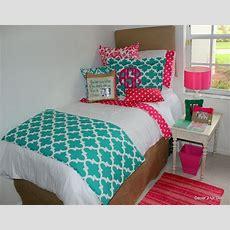 Teal And Hot Pink Dorm Room Designs #2014dormroom