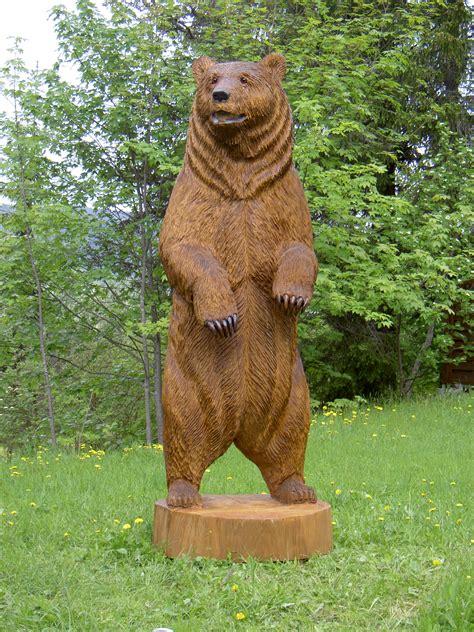 Gartendeko Holzfiguren by B 228 R Hugo 3 2 M 86 Holzwerkstatt Kohli