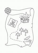 Treasure Map Coloring Pages Pirate Printable Preschool Drawing Template Sailing Sheet Clipart Easy Cartoon Play Kidsplaycolor Templates A4 Invitation Popular sketch template